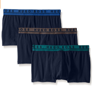 Cueca Hugo Boss  Men's 3-Pack Cotton Stretch Trunk