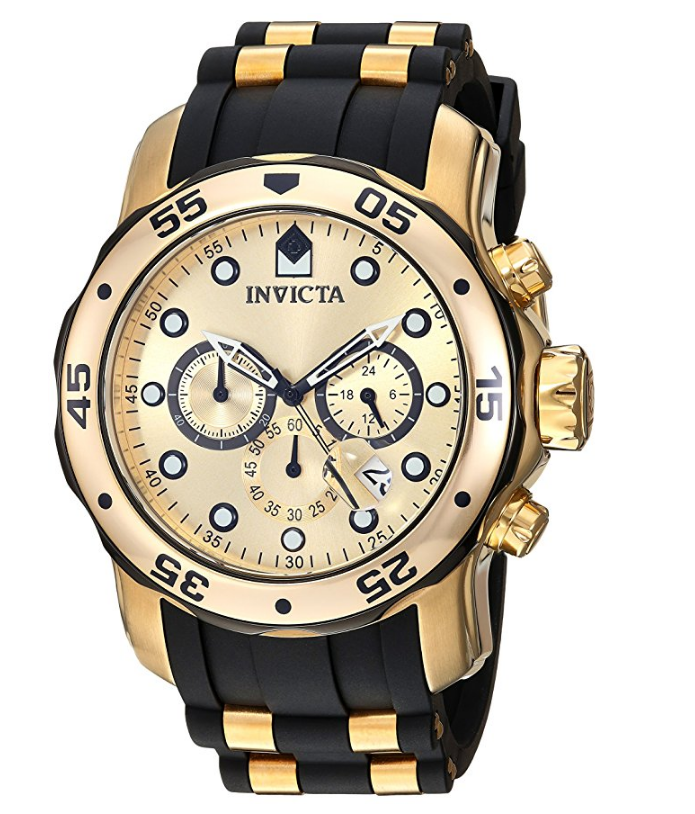 bda4e389dac Invicta Men s 17885 Pro Diver Ion-Plated Stainless Steel Watch with  Polyurethane Band