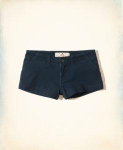 Short Hollister Low-Rise Chino Shorts Azul