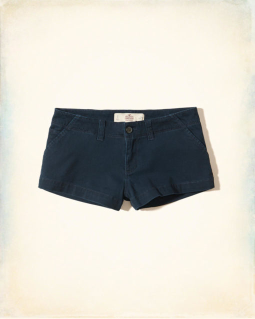 Short Hollister Low-Rise Chino Shorts Azul