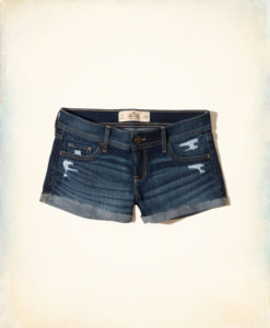 Short Hollister Low-Rise Denim Short-Shorts