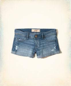 Short Hollister Low-Rise Denim Short-Shorts Jeans Claro