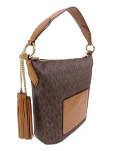 Bolsa Michael Kors Elana Large Shoulder Bag Marrom