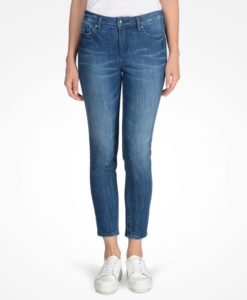 Calça AX Medium Wash Mid Rise Capri Jeans