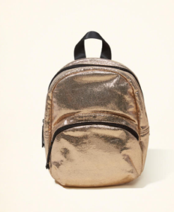 Bolsa Hollister Metallic Mini Backpack Dourada