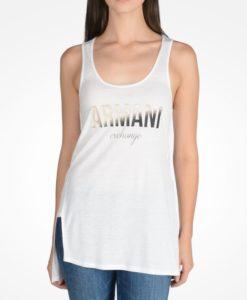 Blusa Armani Exchange Ombre Foil Tank Branca