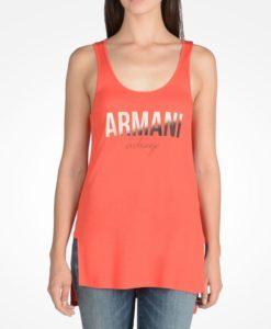 Blusa Armani Exchange Ombre Foil Tank Vermelha