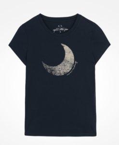 Camiseta Armani Exchange Organic Cotton Moon And Sun Tee