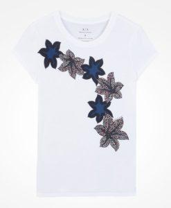 Camiseta Armani Exchange Porcelain Flower Tee