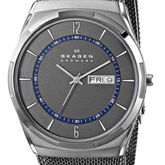 Relógio Skagen Men's Titanium Mesh Watch with Blue Accents