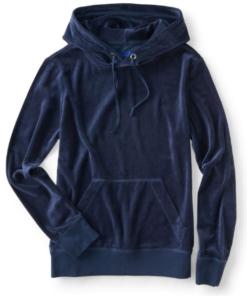 Agasalho Velour Pullover Hoodie Azul