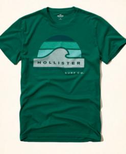 Camiseta Hollister Verde G