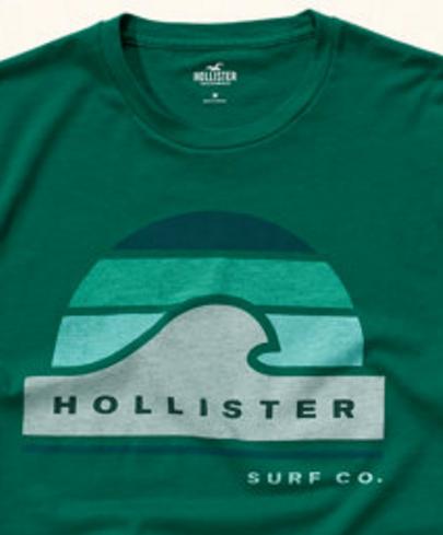 58ec0ce594 Camiseta Hollister Verde G - EuEnvio Importados  Relógios