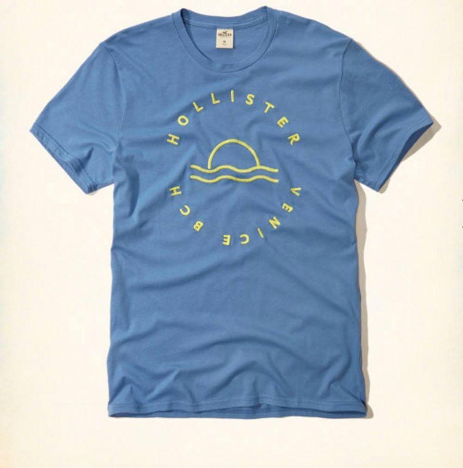 e3c048c585 Camiseta Hollister Azul Tamanho (GG) - EuEnvio Importados  Relógios ...