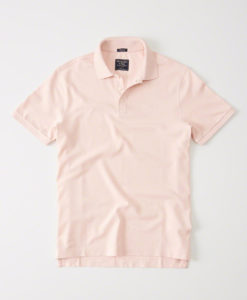 Camisa Polo A&F Relaxed Fit Stretch Ligth Pink