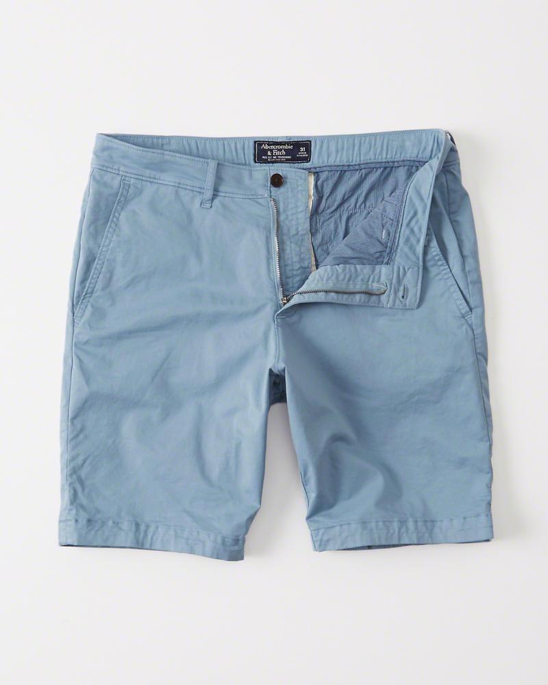 Bermuda Abercrombie   Fitch Flat-front Garment Dye Shorts Azul ... c12fe8ff1053f