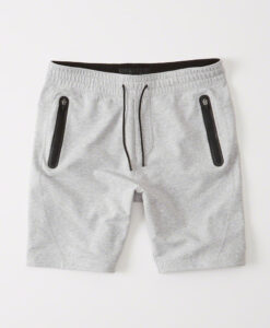 Bermuda Abercrombie & Fitch Sport Fleece Shorts Cinza