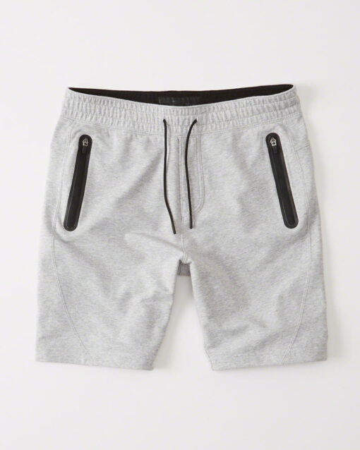 Bermuda Abercrombie & Fitch Sport Fleece Shorts Cinza