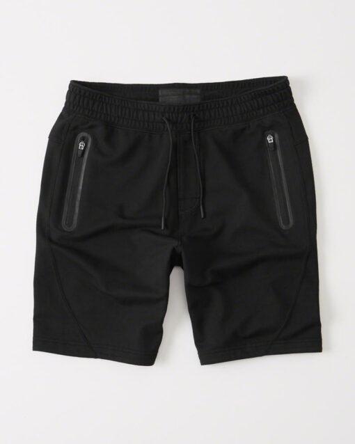 Bermuda Abercrombie & Fitch Sport Fleece Shorts Preta