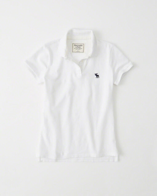 Blusa Abercrombie & Fitch Classic Polo Branca
