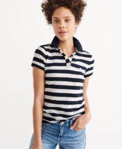Blusa Abercrombie & Fitch Classic Polo Navy Stripe