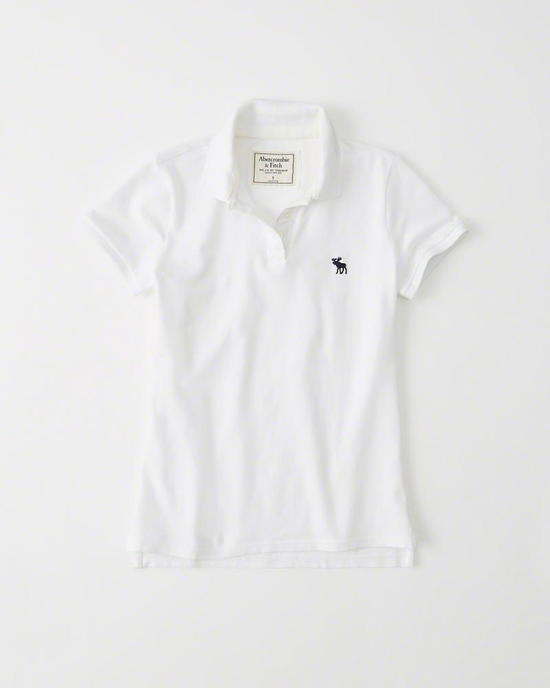b937541f55 Blusa Abercrombie   Fitch Classic Polo Branca - EuEnvio Importados ...