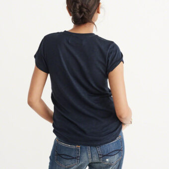 Blusa Abercrombie & Fitch Logo Graphic Tee Navy