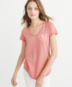 Blusa Abercrombie & Fitch Logo Graphic Tee Rosa