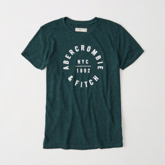 Blusa Abercrombie & Fitch Logo Graphic Tee Verde