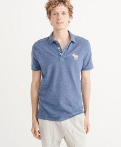 Camisa Polo A&F Big Icon Blue