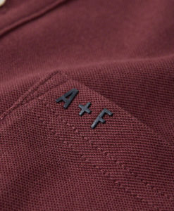 Camisa Polo A&F Sport Burgundy