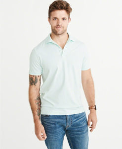Camisa Polo Abercrombie & Fitch Relaxed Fit Stretch Ligth Green