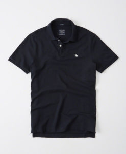 Camisa Polo Abercrombie & Fitch Relaxed Fit Stretch Navy