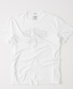 Camiseta A&F Garment Dye Graphic Tee Branca
