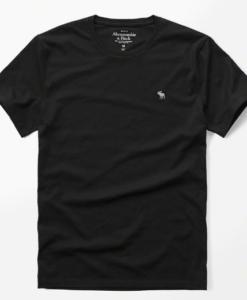 Camiseta A&F Icon Crew Tee Preta