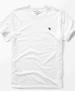 Camiseta A&F Icon Crew Tee Branca