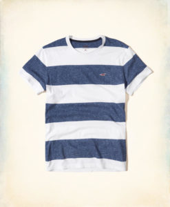 Camiseta Hollister Must-Have Crew T-Shirt Navy Stripe