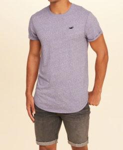 Camiseta Hollister Must-Have Curved Hem T-Shirt Roxa