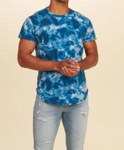 Camiseta Hollister Must-Have Curved Hem T-Shirt Blue
