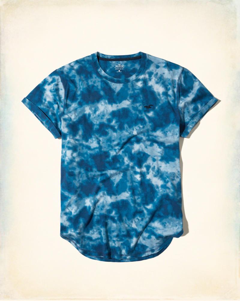 0b4fc6ca59 Camiseta Hollister Must-Have Curved Blue - EuEnvio Importados ...