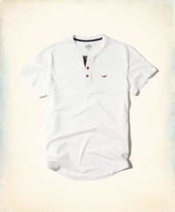 Polo Hollister Must-Have Henley Branca