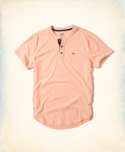 Polo Hollister Must-Have Henley Laranja