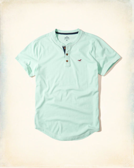 Polo Hollister Must-Have Henley Light Green