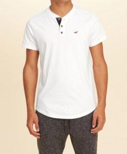 Camiseta Hollister Must-Have Henley Branca