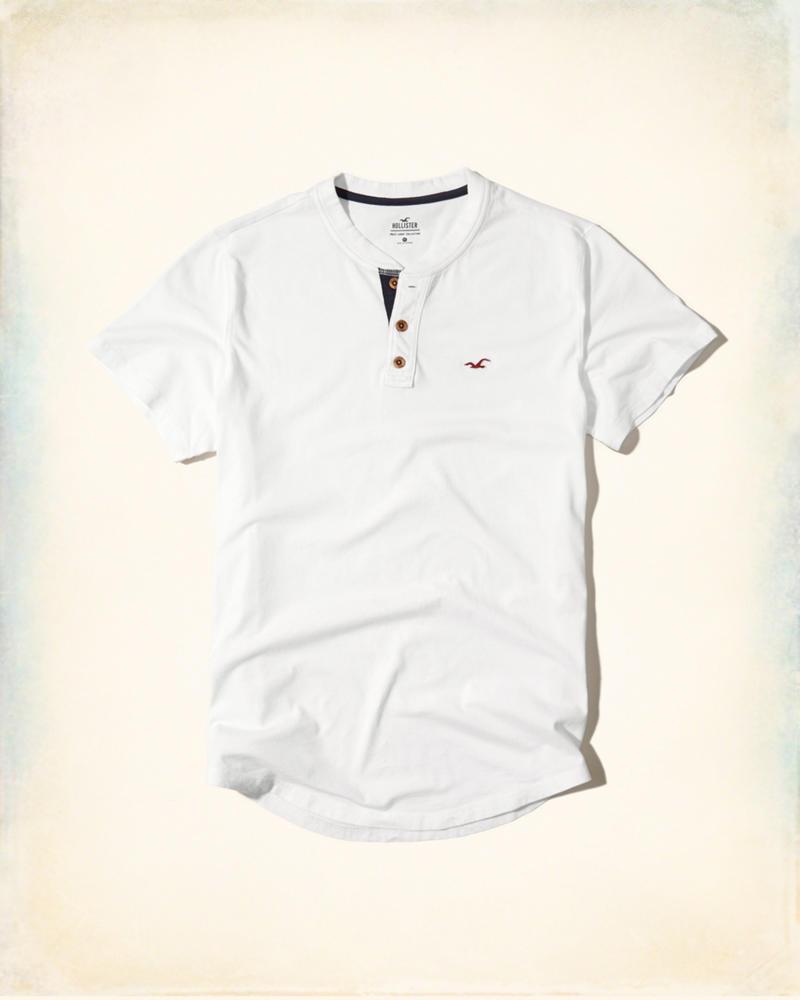 e5556d3849 Camiseta Hollister Must-Have Henley Branca - EuEnvio Importados ...