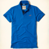 Polo Hollister Stretch Pique Icon Polo Azul