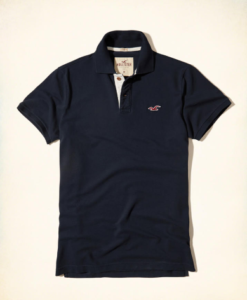 Polo Hollister Stretch Pique Icon Polo Navy