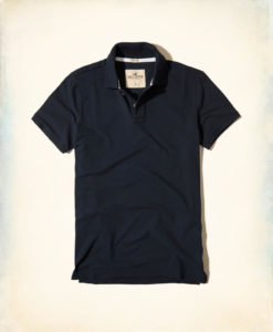 Polo Hollister Stretch Pique Polo Navy,