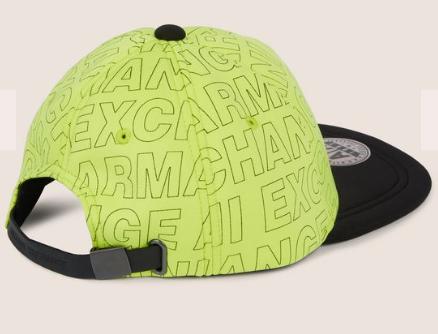 17d68e2e3 Boné Armani Exchange Allover Logo Hat Apple Green - EuEnvio ...