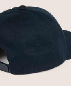 DUAL LINE EMBROIDERED LOGO HAT blue 2